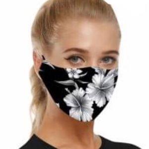 Floral print reusable mask